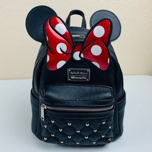Minnie Mouse Loungefly Faux Leather Mini Packpack